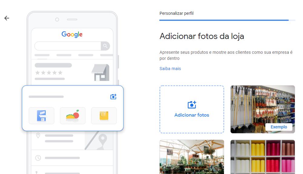Adicionar fotos da loja no Google Meu Negócio