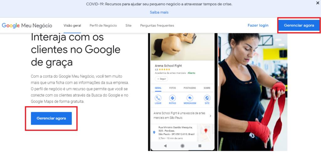 Como colocar a sua empresa no Google Meu Negócio - Gerenciar agora