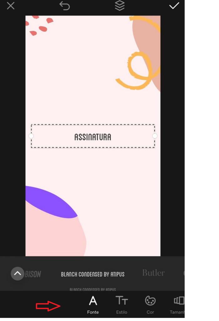GoDaddy Studio Design Gráfico - Adicionar texto